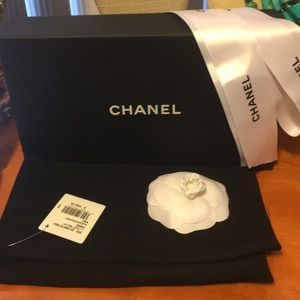 Chanel packaging box flower ribbon & pouches